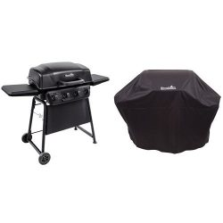 Char-Broil Classic 405 4-Burner Gas Grill with Char-Broil 3-4 Burner All-Season Cover