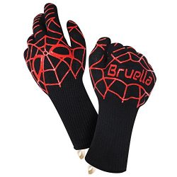 Bruella™ Heat Resistant Gloves ✪ Great For Oven Baking & Cooking In The Kitchen | A+ Militar ...