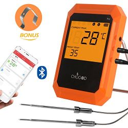 Wireless Meat Thermometer, Bluetooth Remote Cooking Thermometer, Digital Oven Thermometer with 6 ...