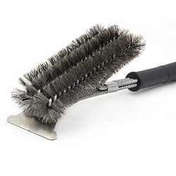 BBQ Grill Brush and Scraper 18″ Stainless Steel Barbecue Grill Brush Bristles Cleaning Bru ...