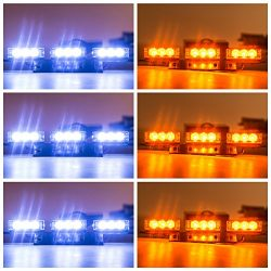 Orion Motor Tech 54 LED Amber & White Emergency Service Truck Car Vehicle Strobe Warning Lig ...