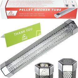 Premium Pellet Smoker Tube 12″ – 5 Hours of Billowing Smoke – for any Grill or ...