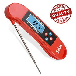 Talking BBQ Thermometer,Instant Read Thermometer,Best Quick Read Digital Cooking Thermometer for ...