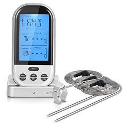 iHomy Wireless Remote Digital Cooking Food Meat Thermometer Instant Read with Oven Probe for Ove ...