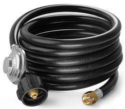 DozyAnt 12 Feet Universal QCC1 Low Pressure Propane Regulator Grill Replacement with 12 FT Hose  ...