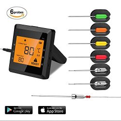 6 Probes Wireless Meat Thermometer for Grill, Aidmax Pro03 EasyBBQ, Wireless Digital Cooking The ...