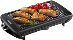 Chefman Electric Smokeless Indoor Grill, XL Non Stick Cooking Surface w/ Adjustable Temperature  ...