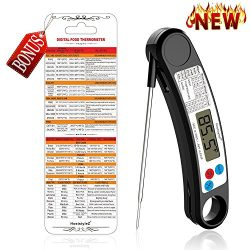 Instant Read Meat Thermometer, Accurate Grill Thermometer Electric Food Cooking Thermometer with ...