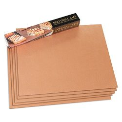 HUKOER Gold Grill Mat Set of 5 – 100% Non-stick BBQ Grill & Baking Mats – FDA Ap ...