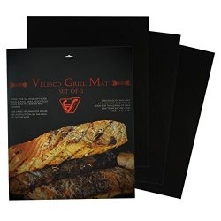 BBQ Grill Mat – Set Of 3 Heavy Duty Non-Stick BBQ Grill & Baking Mats – 15.75 x  ...