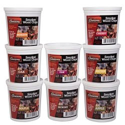 Wood Smoking Chips Variety Gift Set – Set of 8 Pints (Oak, Apple, Cherry, Pecan, Maple, Bo ...