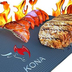 KONA Best BBQ Grill Mat – Heavy Duty 600 Degree Non-Stick Mats (Set of 2) – 7 Year W ...