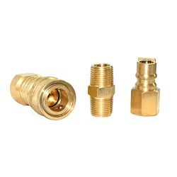 Propane Natural Gas Hose Quick Connect Coupling Fitting Kit for Low Pressure Appliance – 3 ...