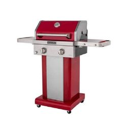 KitchenAid 2-Burner Propane Patio Grill with Cover – Red