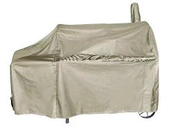 iCOVER 60 Inch 600D Heavy-Duty Premium classic outdoor Canvas BBQ Barbecue Off-Set Khaki Smoker  ...