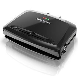 George Foreman Rapid Grill Series, 5-Serving Removable Plate Electric Indoor Grill and Panini Pr ...