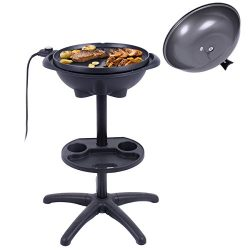 Giantex 1350W Electric BBQ Grill Non-stick w/ 4 Temperature Setting Outdoor Garden Patio Camping