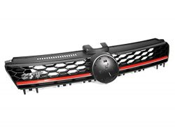 2015+ VW MK7 Golf/GTI Lighting Package High Bar Grille – Black w/ Red Trim