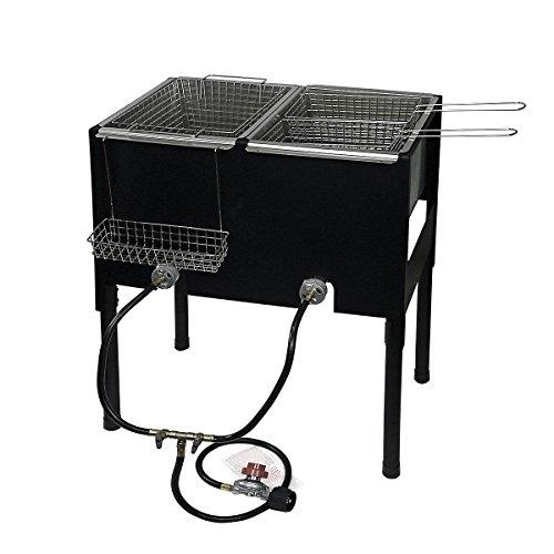 XtremepowerUS High-Pressure Triple Basket Deep Fryer 35″ Height