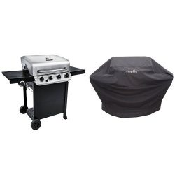 Char-Broil Performance 475 4-Burner Cart Gas Grill- Stainless + Cover