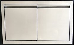 32″ DOUBLE WALLED ACCESS DOOR OUTDOOR KITCHEN / BBQ ISLAND 304 STAINLESS STEEL