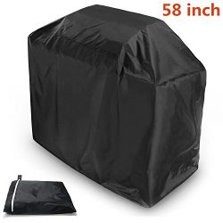 BBQ Grill Cover,Starlotus 58-inch Black Waterproof Weather Resistant Heavy Duty BBQ Gas Grill Co ...