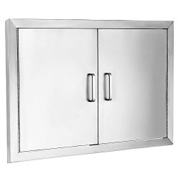 Z-bond 31″Wx24″H BBQ Access Door 304 Stainless BBQ Island Door Heavy Duty Double Doo ...