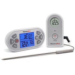ThermoPro TP21 Digital Wireless Meat Thermometer for Grilling Smoker BBQ Oven Thermometer with 8 ...