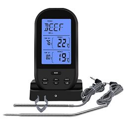 JINTOP Digital Meat Thermometer Wireless Remote Instant Read Food Cooking Thermometer Oven Safe  ...