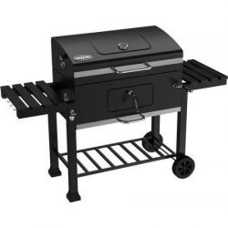 Kingsford, 32″ Charcoal Grill, Black Features a Cast-iron Cooking Grid with a High-tempera ...