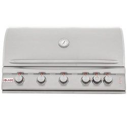 Blaze LTE 40-Inch 5-Burner Built-In Natural Gas Grill With Rear Infrared Burner & Grill Ligh ...