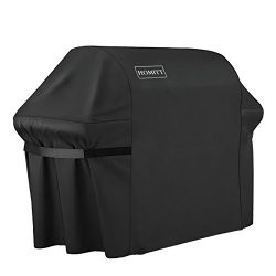 Homitt 44in X 60in Grill Cover, Upgraded 7107 Waterproof BBQ Gas Grill Cover with 600D Heavy Dut ...