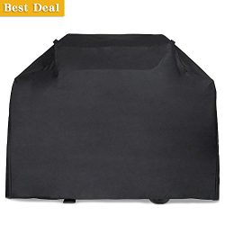 Gas Grill Cover, 64 inch 600D Heavy Duty Waterproof BBQ Grill Cover for Weber, Holland, Jenn Air ...