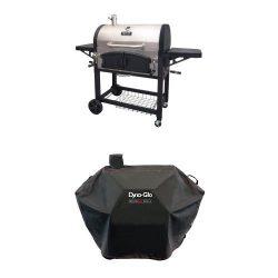 Dyna-Glo DGN576SNC-D Dual Zone Premium Charcoal Grill and Premium Charcoal Grill Cover, Large