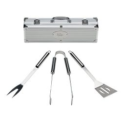 Grill Tools Set with Barbecue Accessories – Stainless Steel BBQ Utensils with Aluminum Cas ...