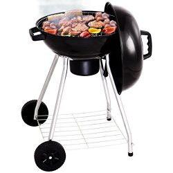 Giantex Kettle Charcoal Grill w/ Wheels Shelf Temperature Gauge BBQ Outdoor Backyard Cooking Bla ...