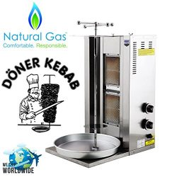 Meat Capacity 25 kg / 55 lbs. 2 BURNER NATURAL GAS 21000 BTU Spinning Grills Vertical Broiler Sh ...