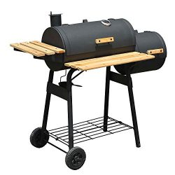 """Outsunny 48""""BBQ Grill Charcoal Barbecue Patio Backyard Home Meat Cooker Smoker"""