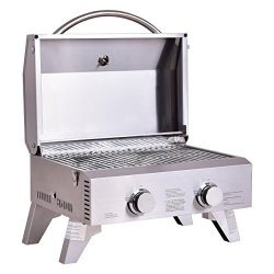 Giantex Propane Gas Grill 2 Burner Stainless Steel BBQ TableTop Perfect For Camping, Picnics or  ...