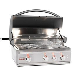 Blaze Professional 34-inch 3-burner Built-in Natural Gas Grill With Rear Infrared Burner – ...