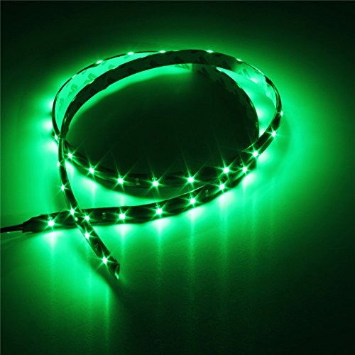 Green LED Grill Lighting Kit 2-Flexible LED Strips For Car & Truck Grilles