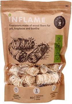 Inflame | Natural Fire Starters Really Comfortable Packaging of Fire-Starting Nuggets 24 pcs in  ...