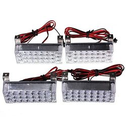 Auto SUV Emergency Light Bars – SODIAL(R)4Pcs 22LED Amber Car Auto SUV Emergency Light Bar ...