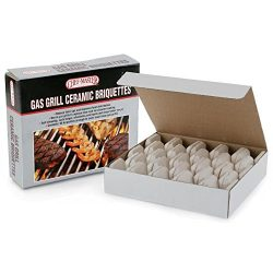 Chef Master Gas Grill Ceramic Grill Briquettes, Grill Like a Pro Replaces Lava Rocks, 50 Count