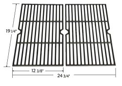 Set of 2 Cast Iron Cooking Grid Replacement for Select Gas Grill Models By Grillware, Charmglow, ...