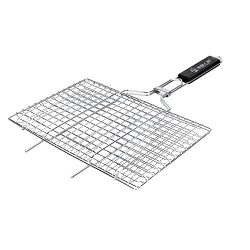 Noubi tech Portable BBQ Barbeque Grilling Basket Stainless Steel Non Stick Grill Basket for Fish ...