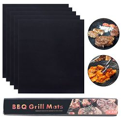 Sadzero 5 Pcs BBQ Grill Mat 33x40CM Reusable100% Non-stick , Reusable and Easy to Clean,Works on ...