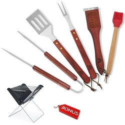 Out&Joy Grill Accessories – Barbecue Tool Set – all grilling needs in one box &# ...
