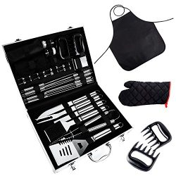 BBQ Tools Set, 31-Piece Grill Tools set, Heavy Duty Stainless Steel Barbecue Grilling Utensils w ...