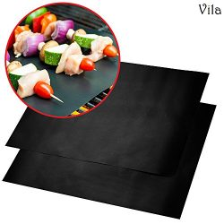 2 Reusable BBQ Grill Mats — High temperature resistant up to 500° Fahrenheit – Heavy ...